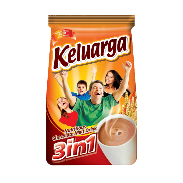 Keluarga Minuman Coklat Malt 3 in 1 / Keluarga Chocolate Malt Drink 3 in 1