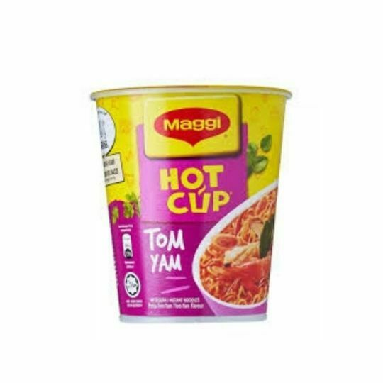 Maggi Hot Cup Instant Noodles Tom Yam Flavour (3 x 61g)