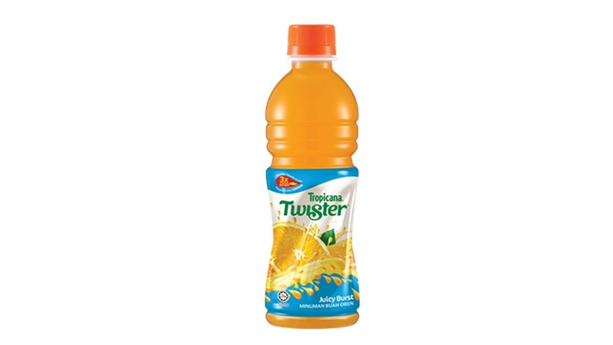 Tropicana Twister Juicy Burst Orange Fruit Drink 355ml