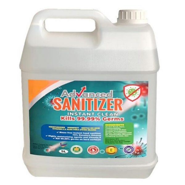 Advance Hand Sanitizer 5L (Instant Clean-Kills 99.99% Germs)