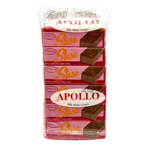 Apollo Wafer Susu 12g x 12pcs