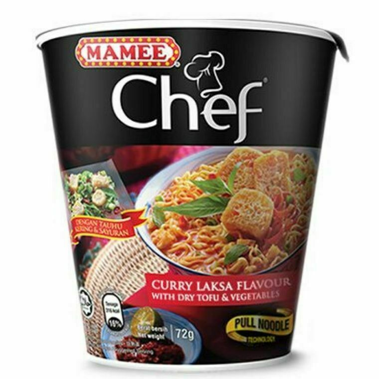 Mamee Chef Cup Instant Noodle-Curry Laksa Flavour (3 x 72g)