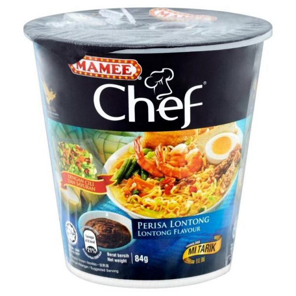 Mamee Chef Cup Instant Noodle-Lontong Flavour (3 x 72g)
