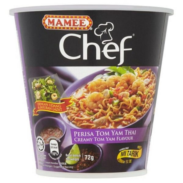 Mamee Chef Cup Instant Noodle-Tom Yam Flavour (3 x 72g)