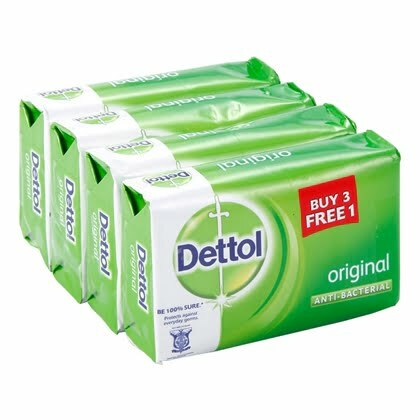 Dettol Original Anti-Bacterial Soap 105g Buy 3 Free 1