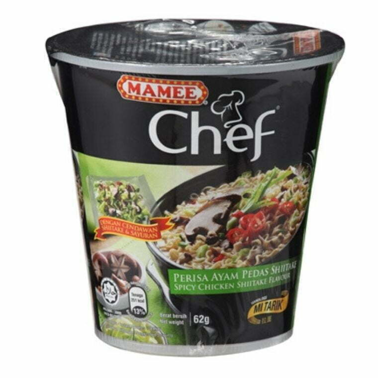 Mamee Chef Cup Instant Noodle-Ayam Pedas Shiitake (3 x 62g)