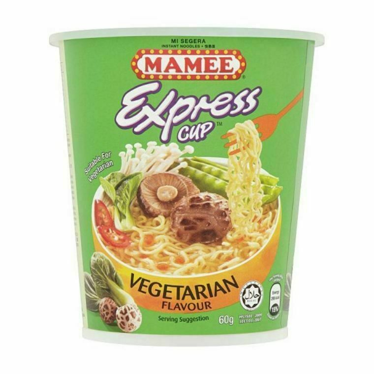 Mamee Express Cup Instant Noodles-Vegetarian Flavour (3 x 60g)