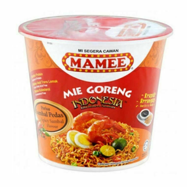 Mamee Cup Mie Goreng Indonesia-Sambal Pedas Flavour (3 x 80g)