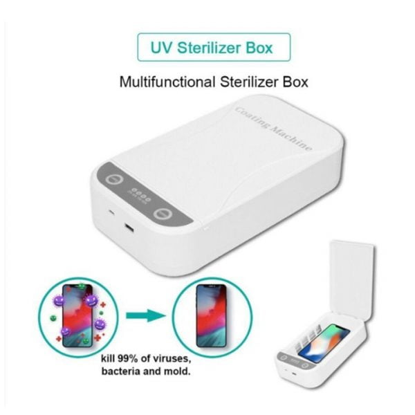 5V Double UV Phone Sterilization Box, Multifunctional UV Cleaning Box