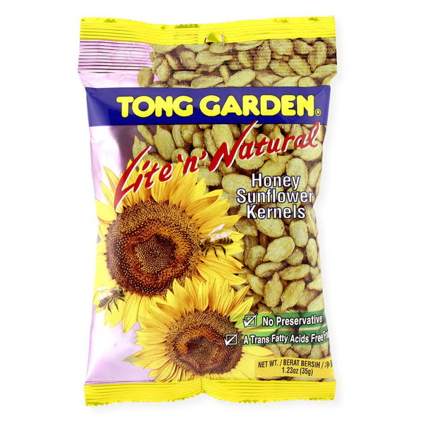 Tong Garden Lite 'n' Natural Honey Sunflower Kernels 35g