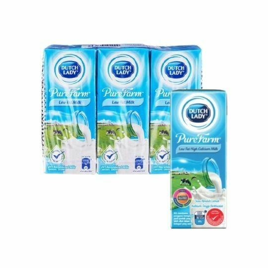 Dutch Lady UHT Low Fat Milk High Calcium Milk 6 x 200ml