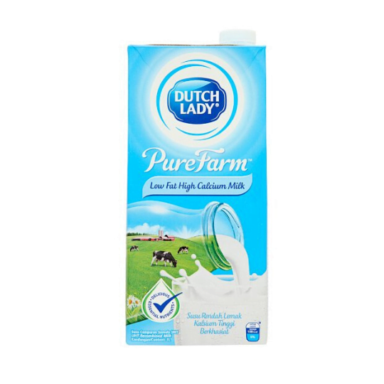 Dutch Lady UHT Low Fat Milk High Calcium Milk 1L