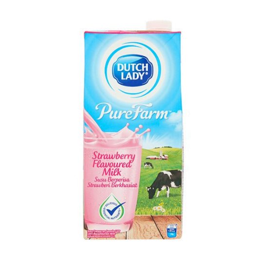 Dutch Lady UHT Strawberry Flavored Milk 1L