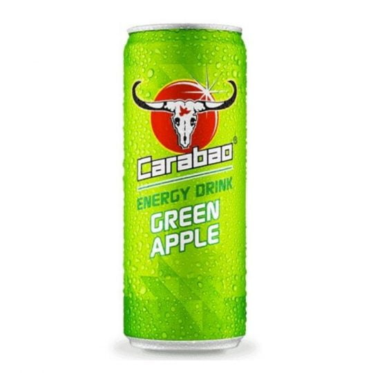 Carabao Green Apple Energy Drink (Carbonated) 180ml