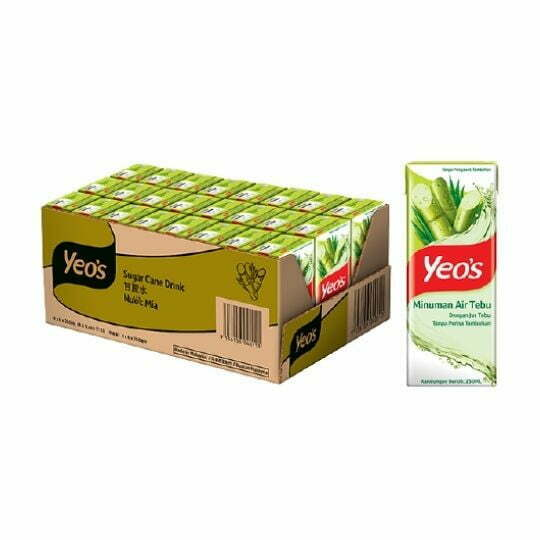 Yeo's Sugar Cane Drink 24 x 250ml / Air Kotak Tebu Yeo's