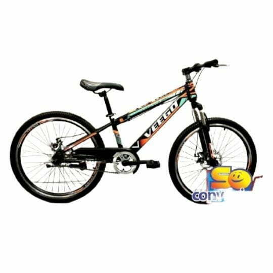 "Veego 24"" Mountain Bike with Single Speed, Suspension Fork & Disc Break (2401)"
