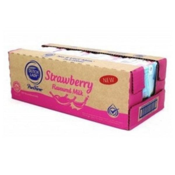 Dutch Lady Strawberry Flavoured Milk 24 x 200ml