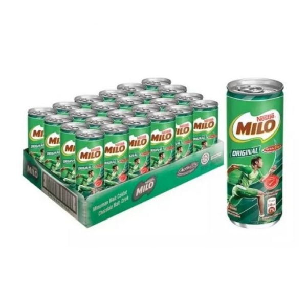 Nestle Milo Original Can 24 x 240ml / Milo Original Tin 24 x 240ml Nestle 24 x 240ml